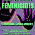 Rechazo a los Feminicidios