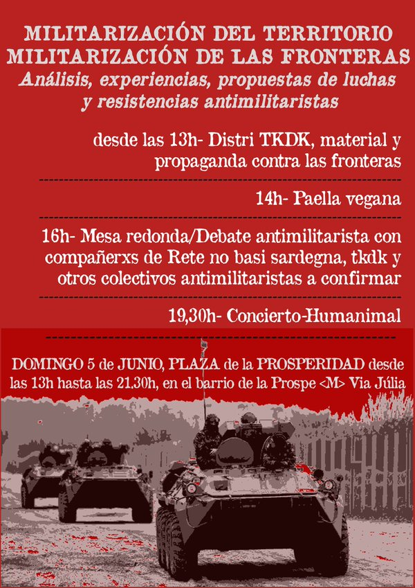 Jornada contra la Militarització de les fronteres
