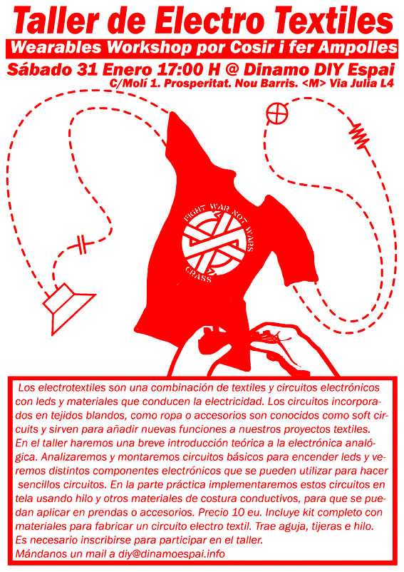 Taller de Electro textiles-Wearables Workshop