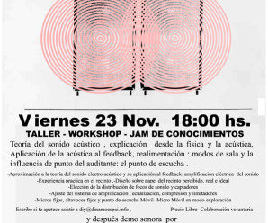 (Castellano) Feedback,acoples y resonancias:Una forma de entenderlo y explorarlo. Taller