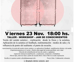 Feedback,acoples y resonancias:Una forma de entenderlo y explorarlo. Taller